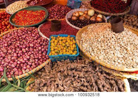 Vegetables On Traditional Market