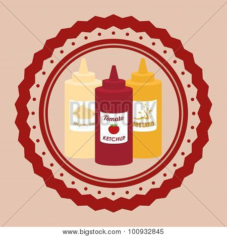 Fast Food condiments design