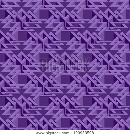 Abstract isometric seamless pattern