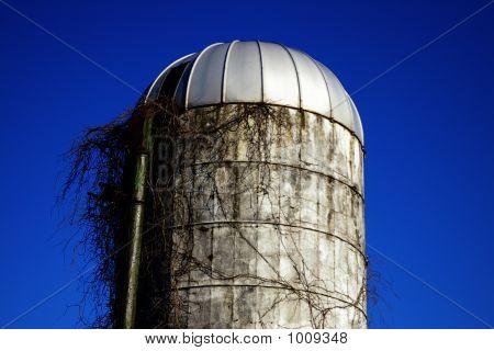 Silo de fazenda abandonada