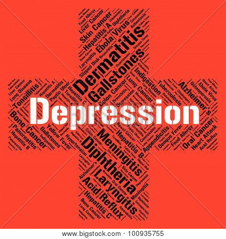 Depression Word Indicates Lost Hope And Affliction