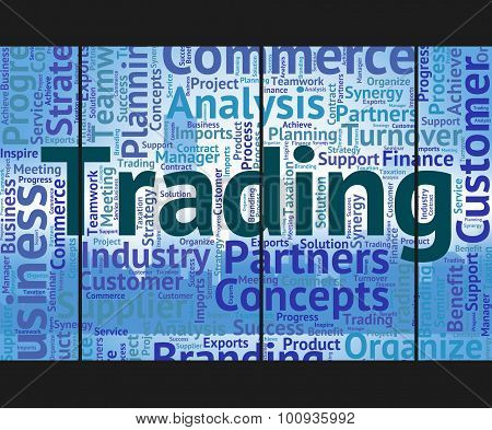 Trading Word Shows Trade Text And Wordclouds