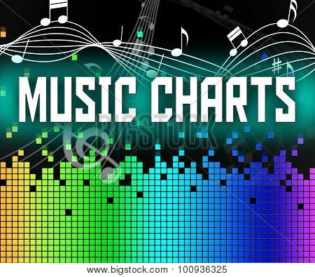 Chart Music Represents Sound Track And Charts