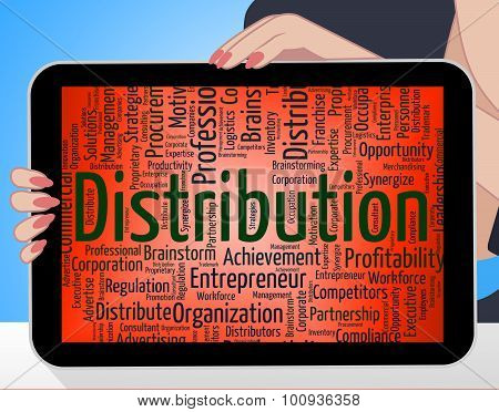 Distribution Word Indicates Wordcloud Delivery And Supplying