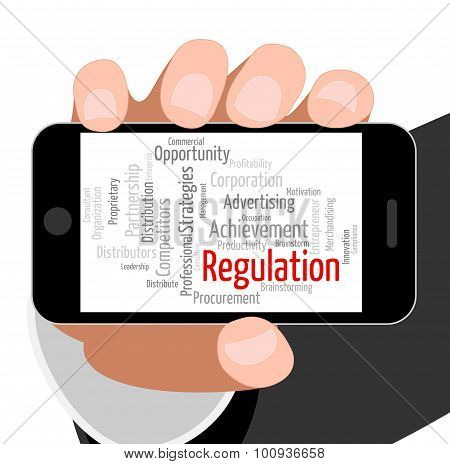 Regulation Word Indicates Rules Regulations And Text