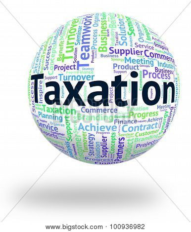 Taxation Word Means Taxpayer Words And Wordclouds