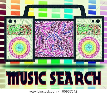 Music Search Indicates Sound Track And Analyse