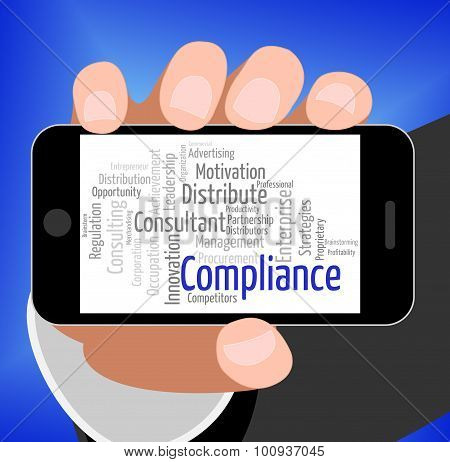 Compliance Word Represents Agree To And Agreement