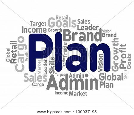 Plan Word Represents Project Proposition And Agenda