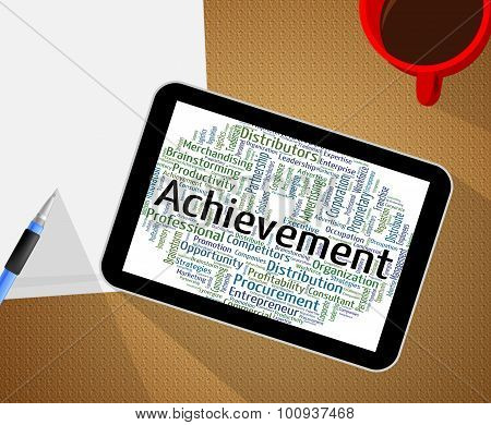 Achievement Word Means Words Achieving And Attainment