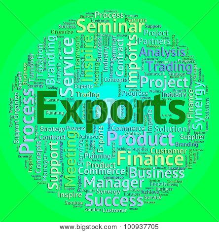 Exports Word Shows Sell Abroad And Exported