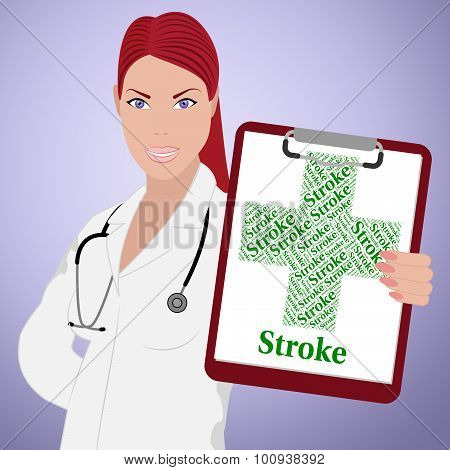 Stroke Word Indicates Transient Ischemic Attack And Cerebrovascular
