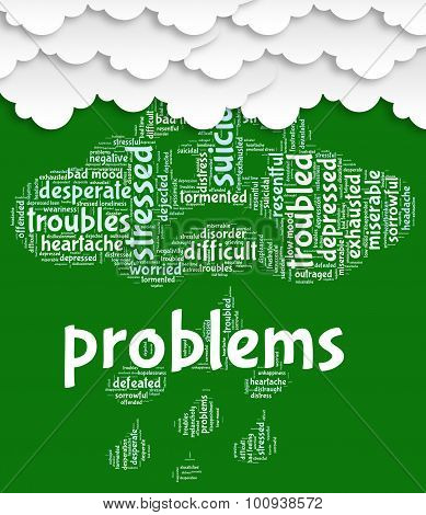 Problems Word Shows Stumbling Block And Complication