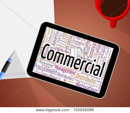 Commercial Word Indicates Sell Wordcloud And Export