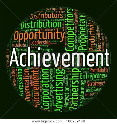 Achievement Word Means Achieving Wordcloud And Attainment
