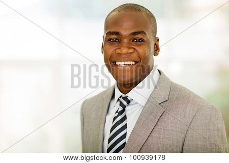 close up portrait of african american male corporate worker