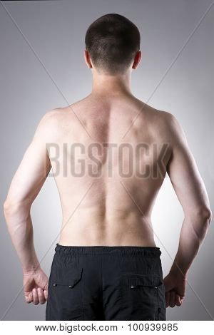 Men Back Close-up