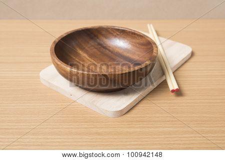 Empty Bowl With Chopstick
