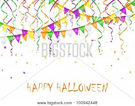 Halloween Pennants And Streamers