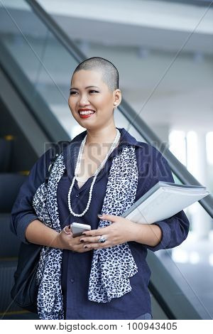 Cheerful elegant business woman