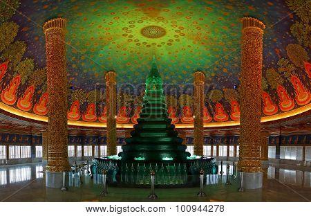 Bangkok Thailand : 2 August 2015 : Wat Paknam Bhasi Charoen The Emerald Green Pagoda