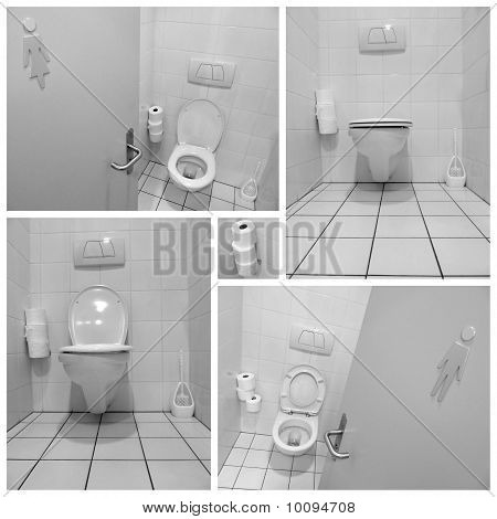 Black And White Toilets For Men And Ladies