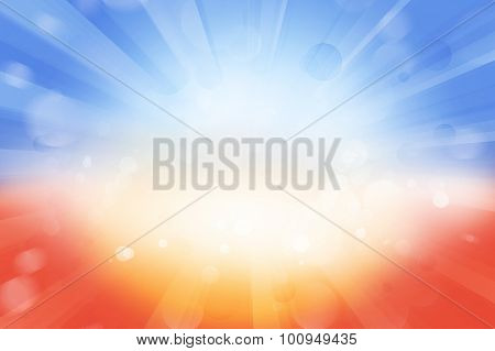Bright blast of light background. Copy space