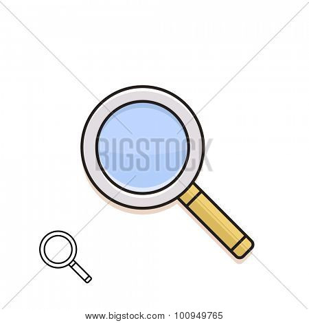 Magnifying glass. Material design vector icon