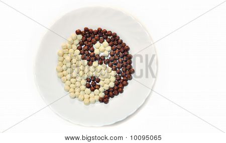chocolate balls in dish