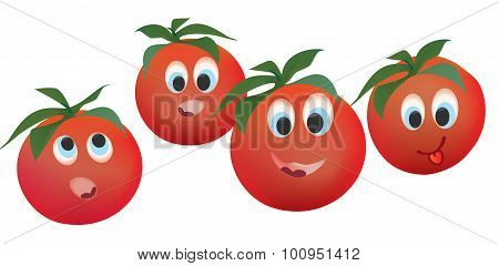 Tomato Face Expressions