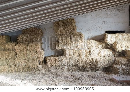Hay Bale Background.