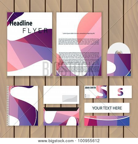 Creative Colorful Corporate Identity. Trendy Business Concept With Logo Design Template, Letter S. V