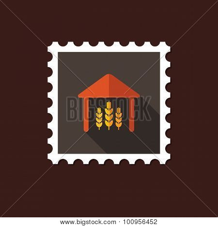 Barn Flat Stamp With Long Shadow