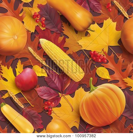 Thanksgiving day seamless pattern. Vector illustration.
