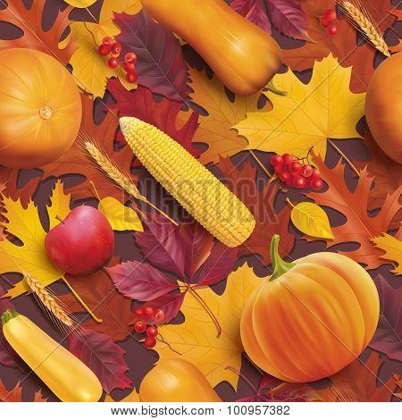 Thanksgiving day seamless pattern. Vector illustration.
