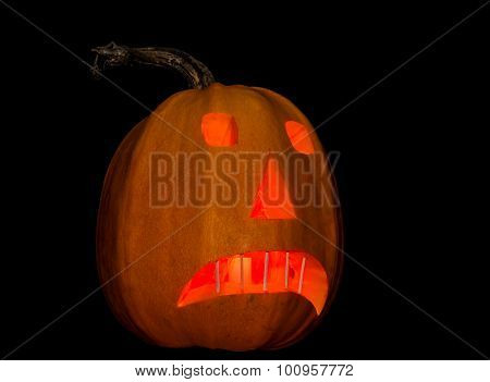 Symbol Of Halloween - Jack-o'-lanterns On A Dark Background