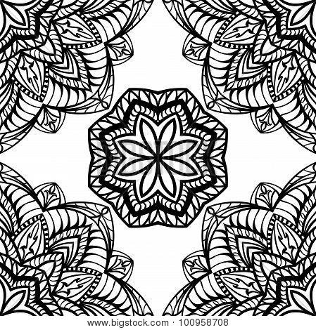 Seamless Black Pattern.