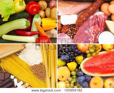 Vitamins, proteins, sugar and carbohydrates