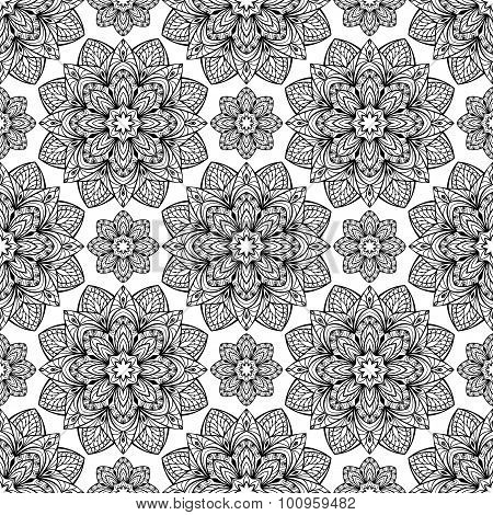 The Pattern Of Filigree Mandalas.
