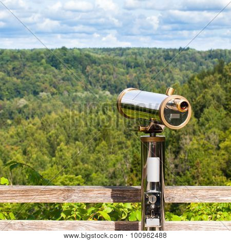 Telescope To Observe The Nature Landscape