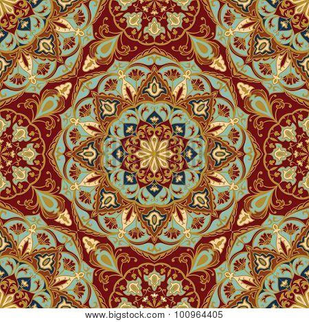 Oriental, Bright, Rich Pattern.