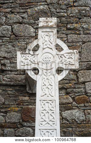 Celtic cross gravestone background