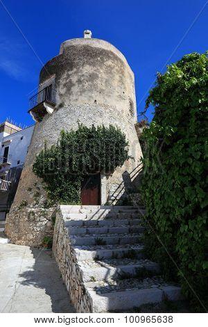 Ruin Of The Castle Of Vieste, Gargano, Puglia, Italy