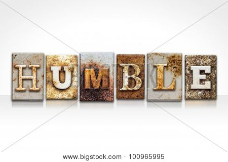 Humble Letterpress Concept Isolated On White