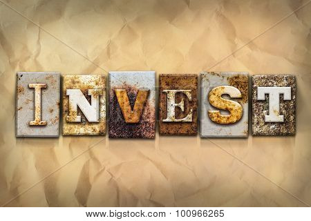 Invest Concept Rusted Metal Type