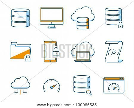 Computer and Network Icons Set