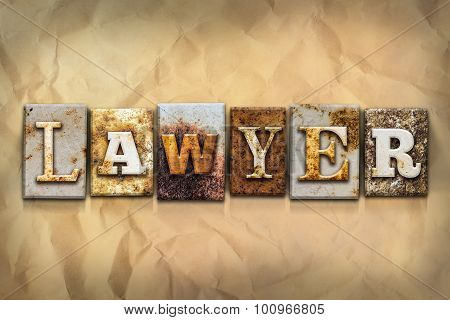 Lawyer Concept Rusted Metal Type