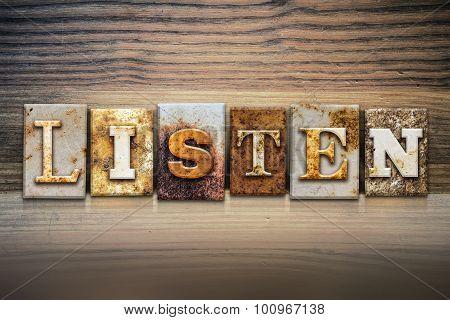 Listen Concept Letterpress Theme