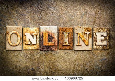 Online Concept Letterpress Leather Theme