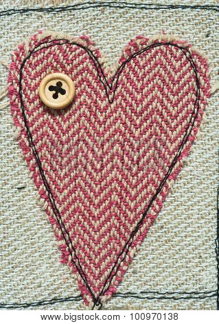 sewn Love Heart background